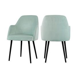 image-Mocate Upholstered Dining Chair BelleFierté Upholstery Colour: Mint