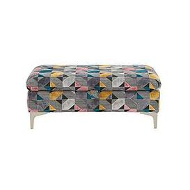 image-Isla Fabric Ottoman Storage Footstool - Pattern