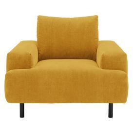 image-Julien Yellow Corduroy Armchair, Yellow