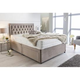 image-McManus Plush Velvet Bumper Divan Bed Willa Arlo Interiors Size: Kingsize (5'), Storage Type: 2 Drawers Same Side