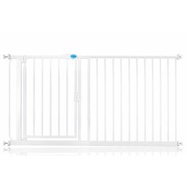 image-Arias Pressure Mounted Pet Gate Archie & Oscar Size: 89.4cm - 96.4cm, Finish: White