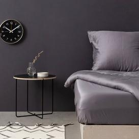 image-Clowers Duvet Cover Set Symple Stuff Colour: Dark Grey, Size: 135 cm B x 200 cm L