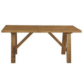 image-Dovetale Trestle Dining Table Oak 6 Seater