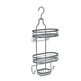 image-2 Tier Grey Hanging Shower Caddy Grey