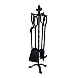 image-Neary 5 Piece Iron Fireplace Tool Set Rosalind Wheeler