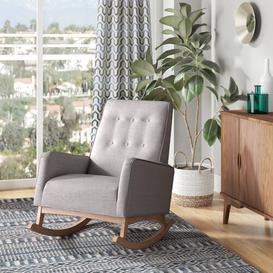 image-Cranford Rocking Chair Blue Elephant Fabric: Greyish Beige