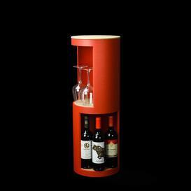 image-Runda Corner Bookcase rund:Stil Colour: Red/Beige