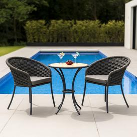 image-Alexander Rose Cordial Garden Grey 2 Seater Roble Bistro Dining Set