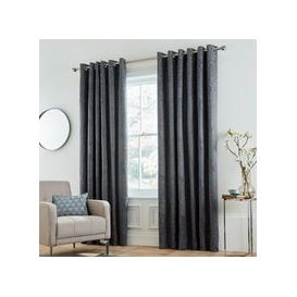 "image-Bedeck Of Belfast Allegro Lined Curtains 90"" x 72\"", Midnight"