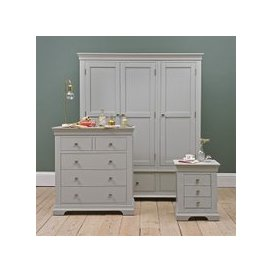 image-Chantilly Grey Triple Wardrobe Bedroom Set