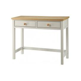 image-Movada Wooden Dresing Table In Dove Grey With 2 Drawers