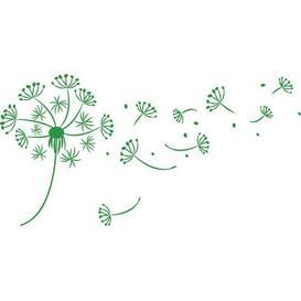 image-Dandelion, Dots Wall Sticker East Urban Home Colour: Light green, Size: 57 cm H x 113 cm W