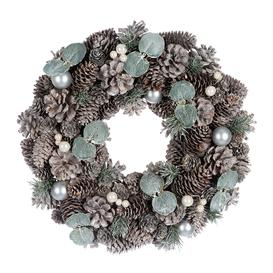 image-A by AMARA Christmas - Frosted Pinecone & Pearl Berry Wreath
