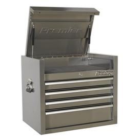 """image-""""22.24"""""""" H x 26.57"""""""" W x 18.11"""""""" D Stainless Steel Heavy-Duty Topchest"""""""