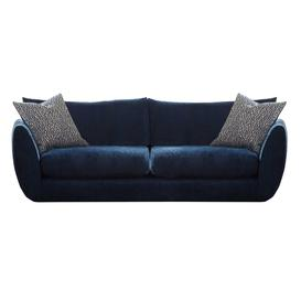 image-Big Blue Extra Large Sofa