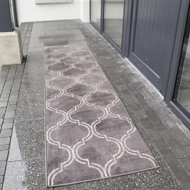 image-Outdoor Geometric Grey Rug - Zen