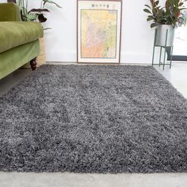 image-Super Soft Luxury Grey Shaggy Rug - Aspen