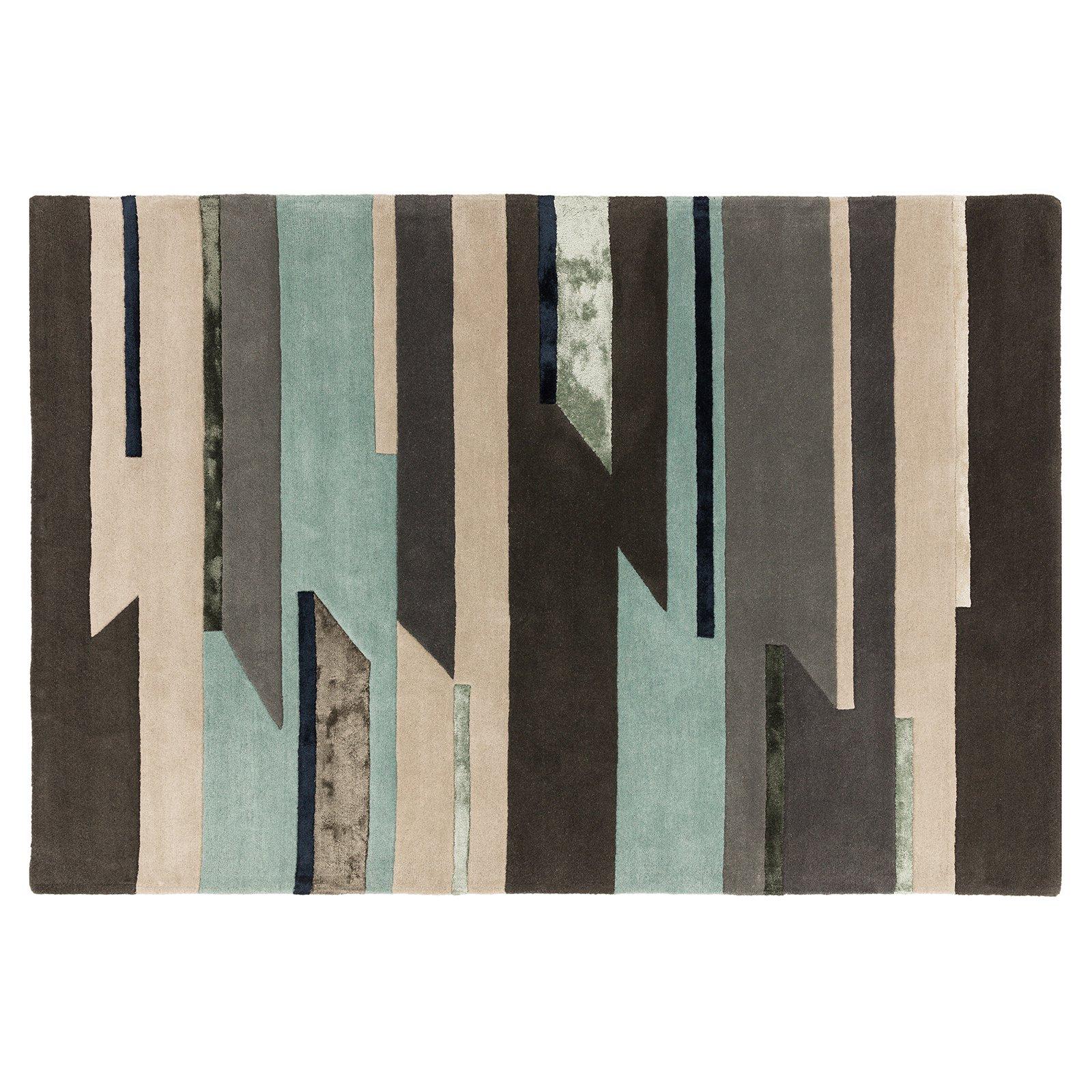 image-Quatro Wool Rug, 120X170 cm, Blue