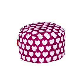image-Pink Hearts Footstool Pink and White