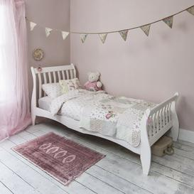 image-Astrid Single Bed Sleigh Frame in Classic White