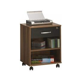 image-Marconie Wooden Office Cabinet In Walnut And Black