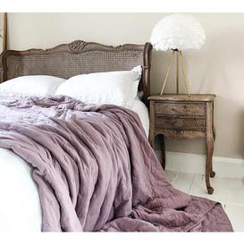 image-Peachskin Quilted Bedspread in Lilac Pink