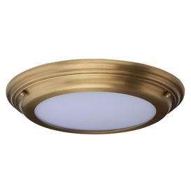 image-Elstead WELLAND/F AB Welland Medium Bathroom Flush Ceiling Light In Aged Brass