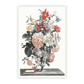 image-'Flowers in a Glass Vase' by Johan Teyler - Unframed Painting Print on Paper East Urban Home Size: 42 cm H x 29.7 cm W