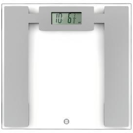 image-WW Ultra Slim Glass Electronic Bathroom Scale - Silver