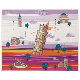 image-Huckleberry Playmat Isabelle & Max Colour: Mauve/Orange