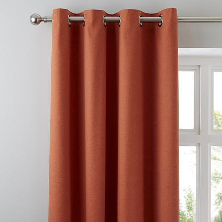 image-Tyla Paprika Blackout Eyelet Curtains Red