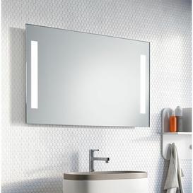 image-Mila LED Illuminated Bathroom Mirror Wade Logan Size: 63cm H x 100cm W x 3.2cm D