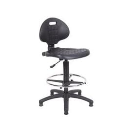 image-Polyurethane Draughtsman Chair, Black