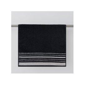 image-Sparkle Black Hand Towel Black