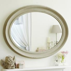 image-Patricia Shabby Elegance Oval Overmantle Mirror Lily Manor