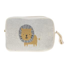 image-Retreat - Kids Knitted Travel Pouch With Blanket - Lion