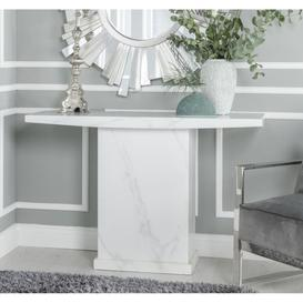image-Urban Deco Turin White Marble Console Table