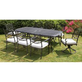 image-Elizabeth 8 Seater Dining Set with Cushions August Grove