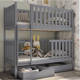 image-Cranleigh Single (3') Bunk Bed with Drawers Isabelle & Max Colour (Bed Frame): Grey