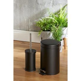 image-3 Litre Pedal Bin and Toilet Brush Set