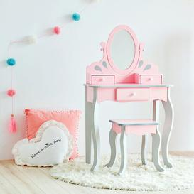 image-Rapunzel Dressing Table Set with Mirror Teamson Kids