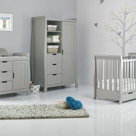 image-Stamford Mini Cot 3-Piece Nursery Furniture Set Obaby Colour: Warm Grey