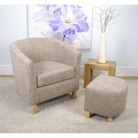 image-Tweed Tub Chair Set