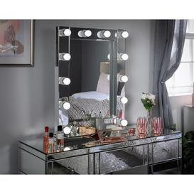 image-Small Hollywood Mirror With LED Lights - 62x79.5cm