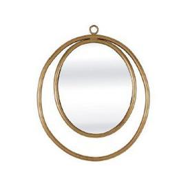 image-Alexia Wall Mirror Oval In Gold Finish
