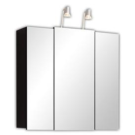 image-68cm x 71cm Surface Mount Mirror Cabinet with Lighting Belfry Bathroom Finish: Anthracite