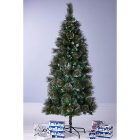 image-Green Bushy Glitter Christmas Tree