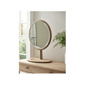 image-Bergen Oak Dressing Table Mirror