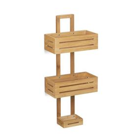 image-Kent Bamboo Wall Mounted Shower Caddy Natur Pur
