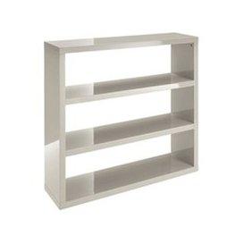 image-Curio Stone High Gloss Finish Bookcase With 3 Shelf